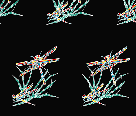 Wright's Dragonfly fabric by kristenstein on Spoonflower - custom fabric