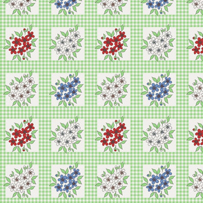 framed_flowers_and_gingham_in_green