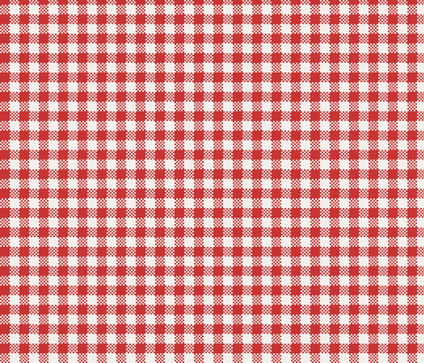 gingham_in_red fabric by victorialasher on Spoonflower - custom fabric