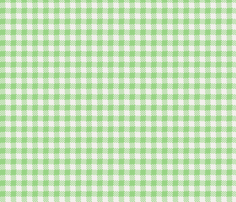 gingham_in_green fabric by victorialasher on Spoonflower - custom fabric