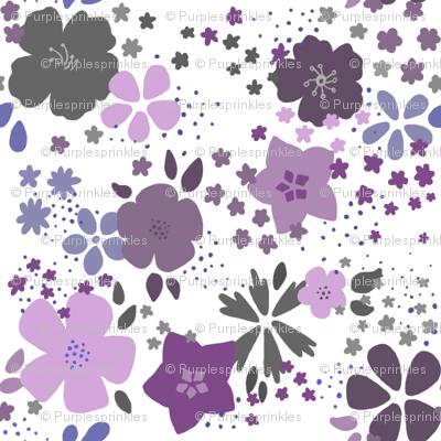 Funky Purple Flowers