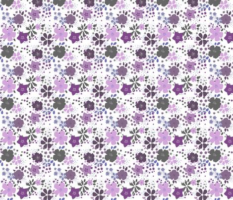 Funky Purple Flowers fabric by purplesprinkles on Spoonflower - custom fabric