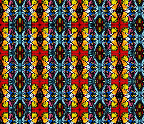 Barcelona Graffiti fabric by twoboos on Spoonflower - custom fabric