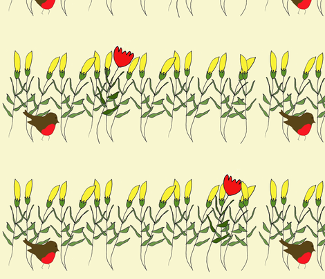 poppy_and_cornyellow fabric by 5u5an on Spoonflower - custom fabric