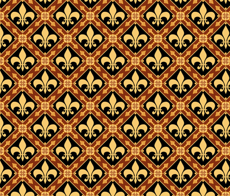 Medieval Repeat  fabric by poetryqn on Spoonflower - custom fabric