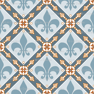 Pale Blue Medieval Repeat
