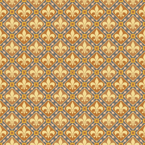 Brown Medieval Repeat fabric by poetryqn on Spoonflower - custom fabric