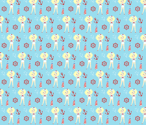 Shipmates fabric by tenderlovingclaire on Spoonflower - custom fabric