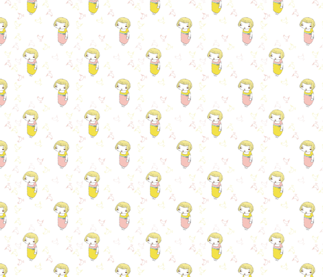 pink and yellow dress fabric by myers-cho on Spoonflower - custom fabric