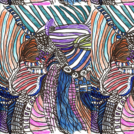 Jamjax Aaliyah fabric by jamjax on Spoonflower - custom fabric