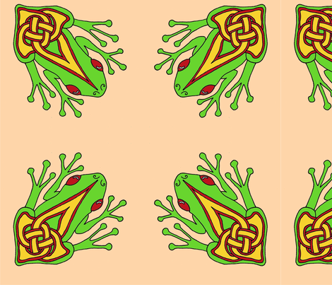 celtic frog 3 fabric by ingridthecrafty on Spoonflower - custom fabric