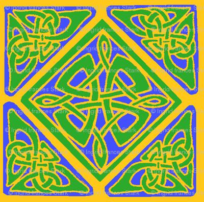 mandala 6 b green blue