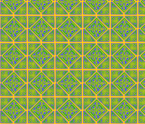 mandala 6 b green blue fabric by ingridthecrafty on Spoonflower - custom fabric