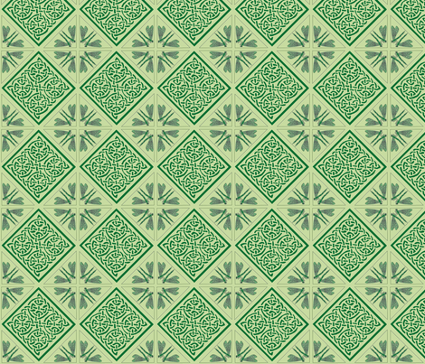 dragonfly corner knot tile fabric by ingridthecrafty on Spoonflower - custom fabric