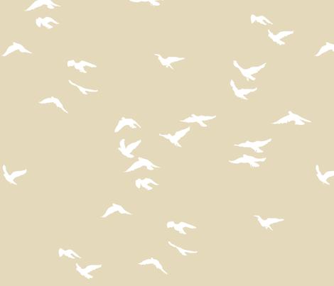 Birds Fawn fabric by bunni on Spoonflower - custom fabric