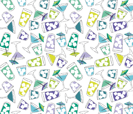 summer cocktail party fabric by minimiel on Spoonflower - custom fabric