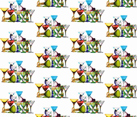 Colorful Bar Drinks fabric by art_to_fabric on Spoonflower - custom fabric