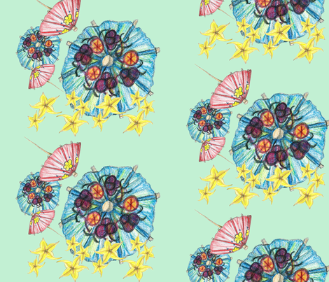 tropical_cocktails-01 fabric by abelingdesigns on Spoonflower - custom fabric