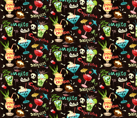 Yay For Cocktails fabric by chesirella on Spoonflower - custom fabric
