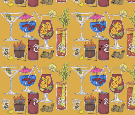 The Casualties of Bar fabric by ceanirminger on Spoonflower - custom fabric