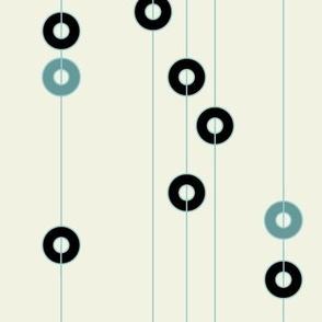 Black and Blue Rings on Strings