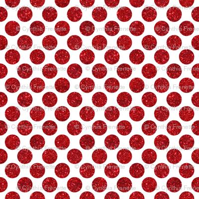 Glitter Dot Red