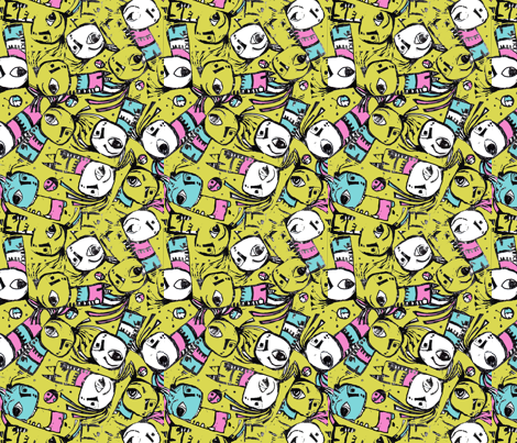 Monster Dance fabric by myers-cho on Spoonflower - custom fabric