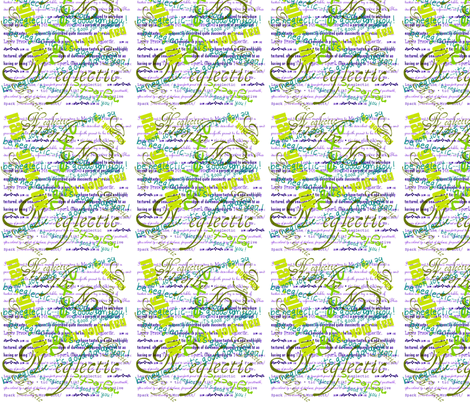 Green&Purple Neglection fabric by auntiecats on Spoonflower - custom fabric