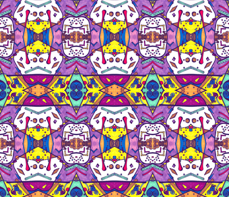Tiddles and Winks fabric by geneblack on Spoonflower - custom fabric