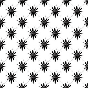 Black and White Handpainted Daisy © ButterBoo Designs 2009