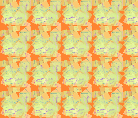 Orange patch neglectic fabric by auntiecats on Spoonflower - custom fabric
