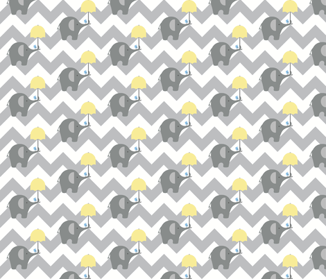 Zekie Chev small / buttercup fabric by paragonstudios on Spoonflower - custom fabric