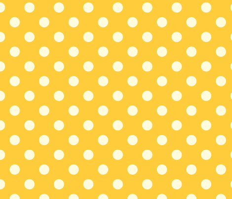Sunshine polkadot fabric by bellamarie on Spoonflower - custom fabric