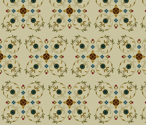 Embroidered fabric by emmyupholstery on Spoonflower - custom fabric