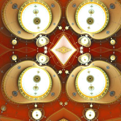 Steampunk Pearls fabric by winter on Spoonflower - custom fabric