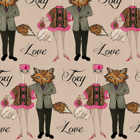 Foxy Love fabric by paragonstudios on Spoonflower - custom fabric