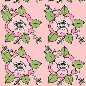 Tessa's Rose on Pink