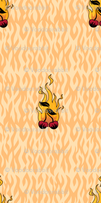 Flaming Cherry Tattoo Small - A