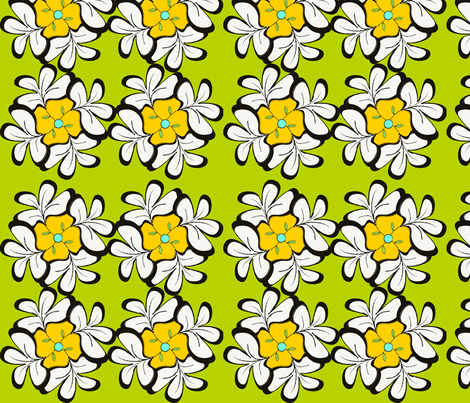Floral Quasi Tessellations in a 60s Pallet  fabric by kristinhorst on Spoonflower - custom fabric