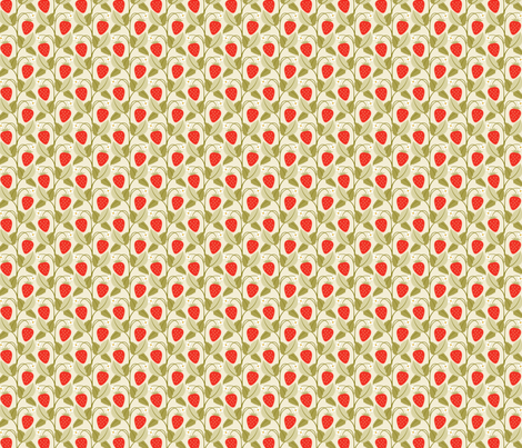 strawberry patch fabric by cindylindgren on Spoonflower - custom fabric