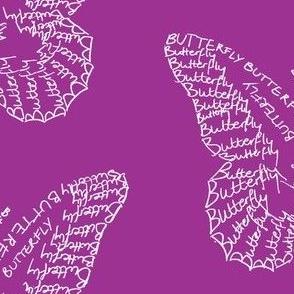 Butterfly Calligram