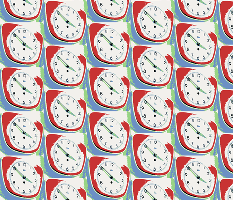 50's Clock fabric by twoboos on Spoonflower - custom fabric