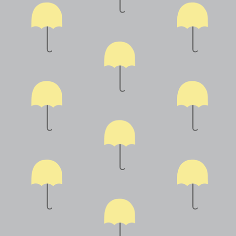 Zekie Umbrella  /buttercup fabric by paragonstudios on Spoonflower - custom fabric