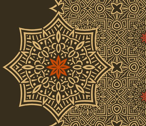 Rpattern_sepia_celtic_flower_accent_shop_preview