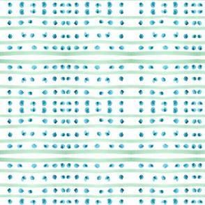 C'EST LA VIV™ Circles and Squares Collection_BLUE DOTTY STRIPES