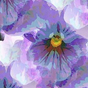 Blue violet pansy (L)