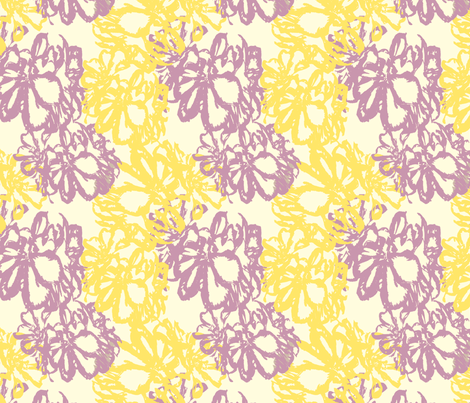 Lavender_Yellow_Geranium fabric by cksstudio80 on Spoonflower - custom fabric