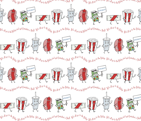 Let's all go to the Lobby! - 50's palette fabric by lulakiti on Spoonflower - custom fabric