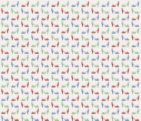Retro Pumps fabric by eclectic_mermaid on Spoonflower - custom fabric