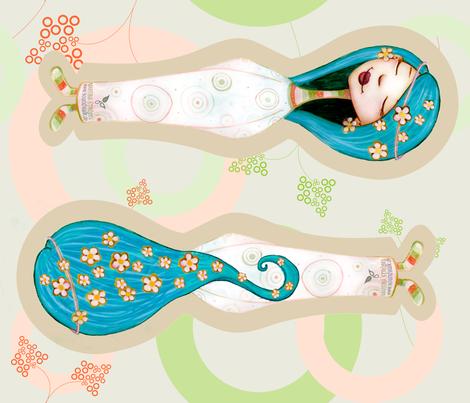 The Blue Fairy - cuddle doll fabric by vina on Spoonflower - custom fabric